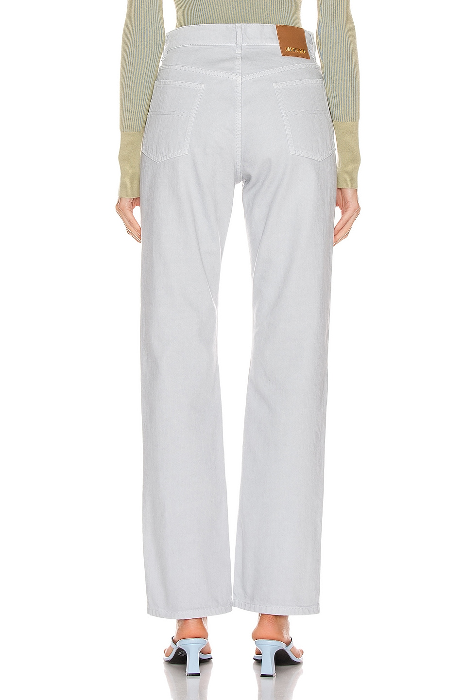 Image 3 of JACQUEMUS Le Jean in Light Grey