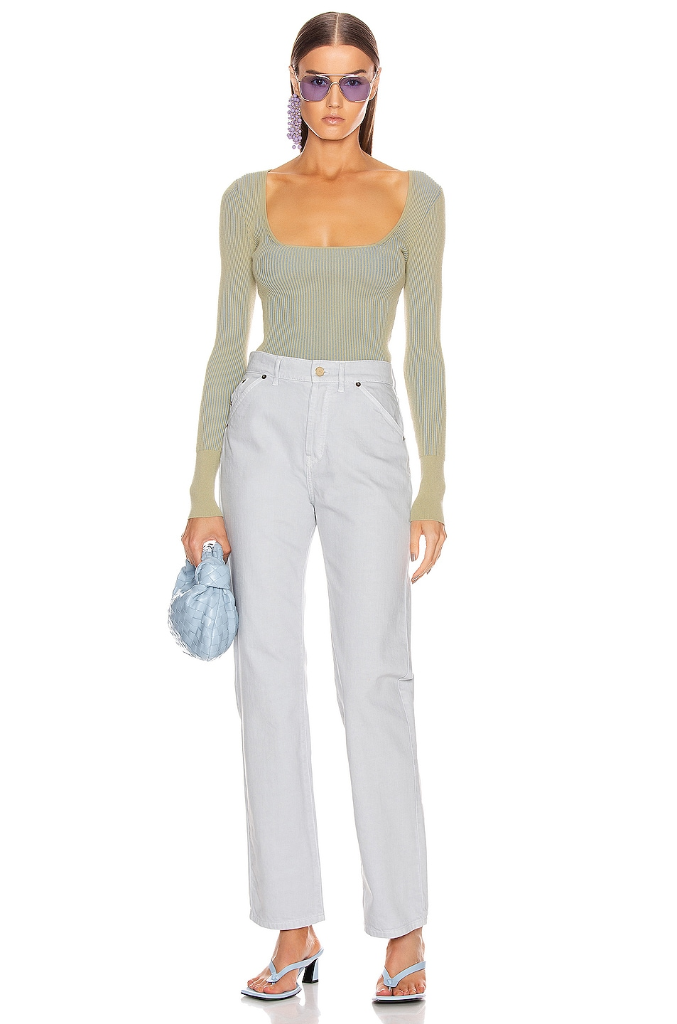 Image 4 of JACQUEMUS Le Jean in Light Grey