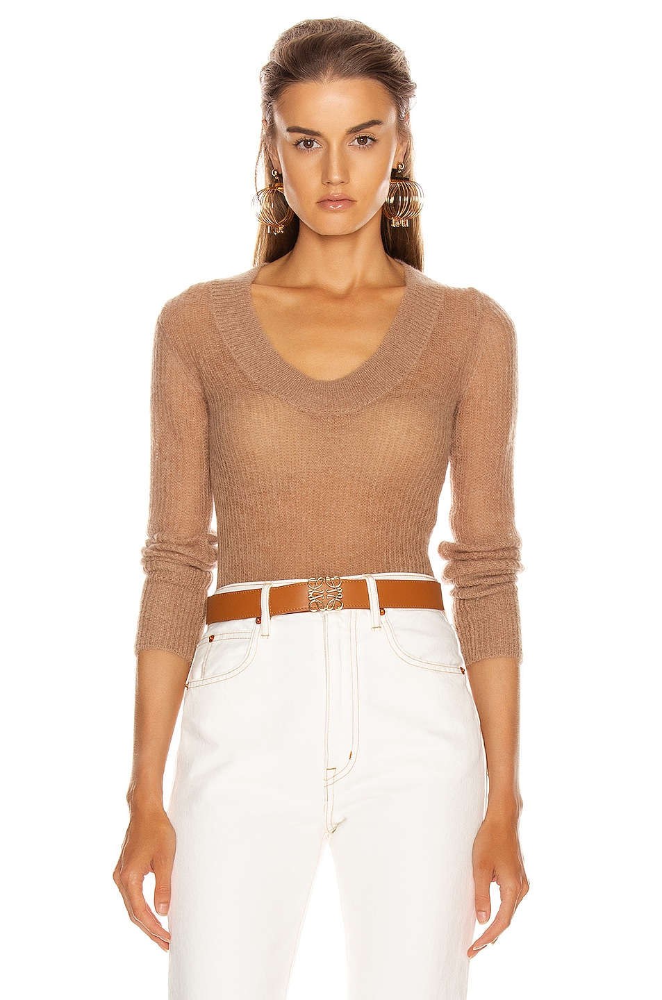 Image 1 of JACQUEMUS Dao Sweater in Camel