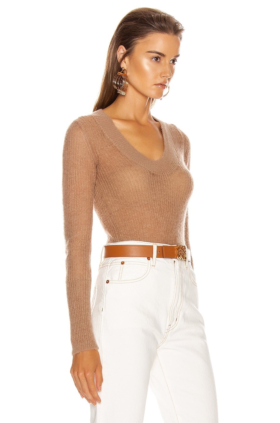 Image 2 of JACQUEMUS Dao Sweater in Camel