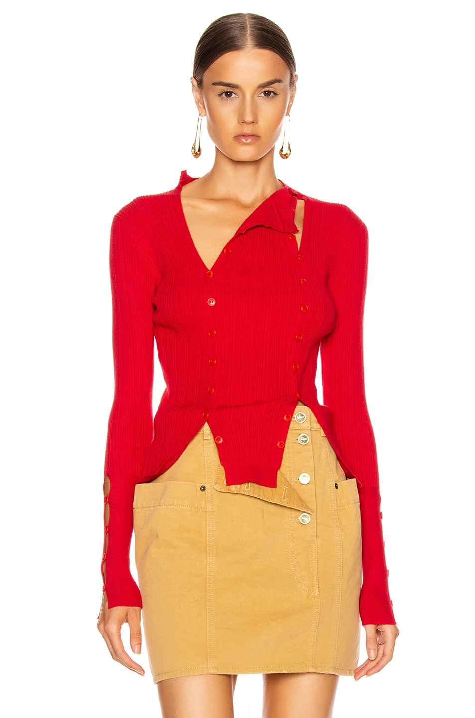 Image 2 of JACQUEMUS La Maille Azur in Red