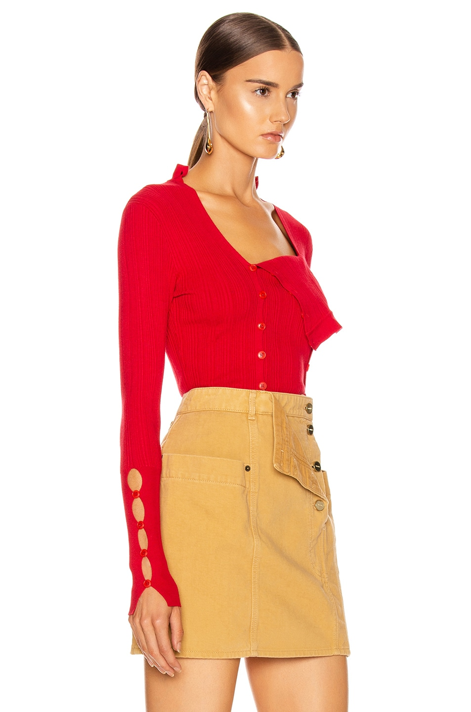 Image 3 of JACQUEMUS La Maille Azur in Red
