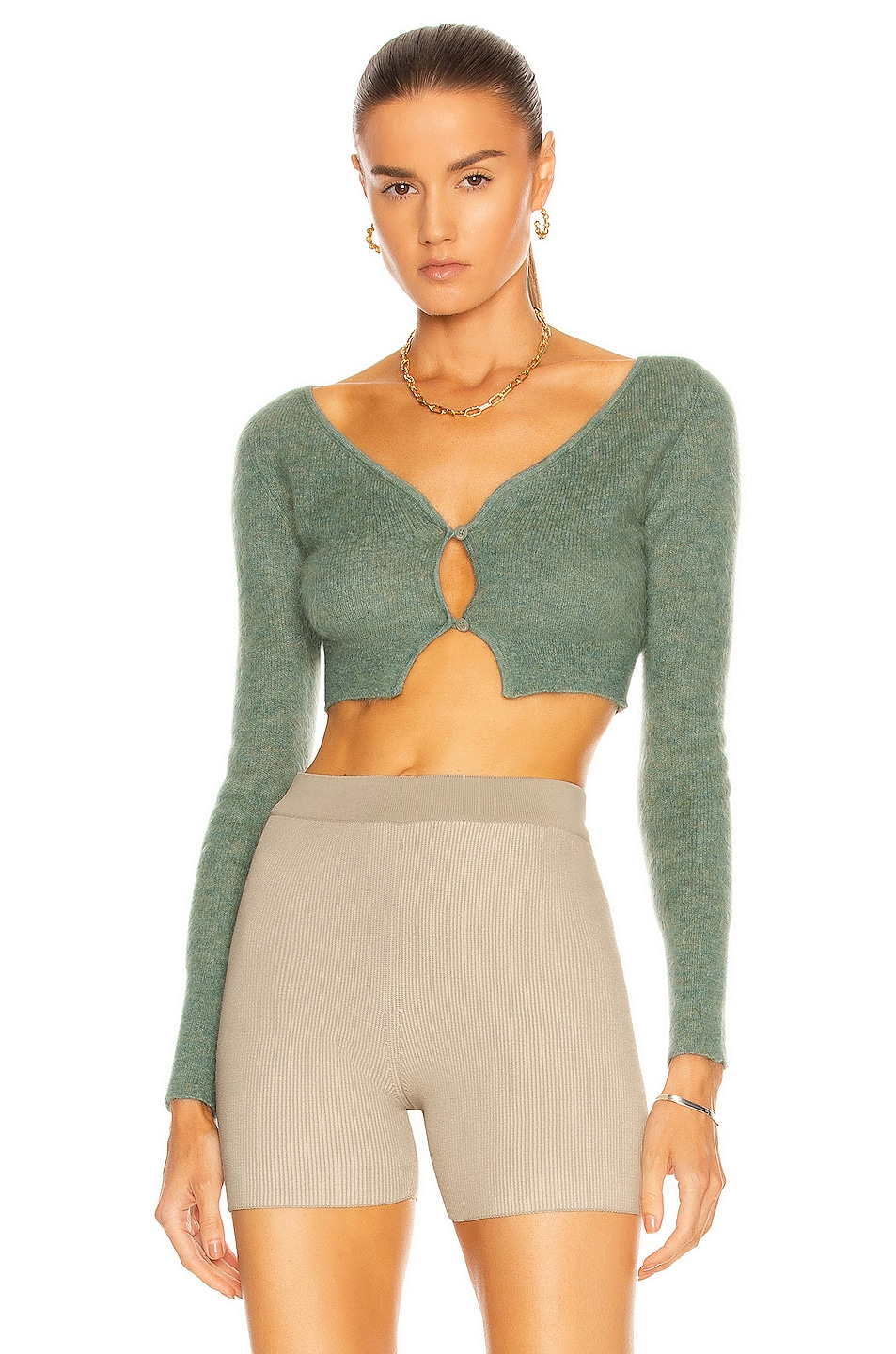 Image 1 of JACQUEMUS Le Cardigan Alzou in Green