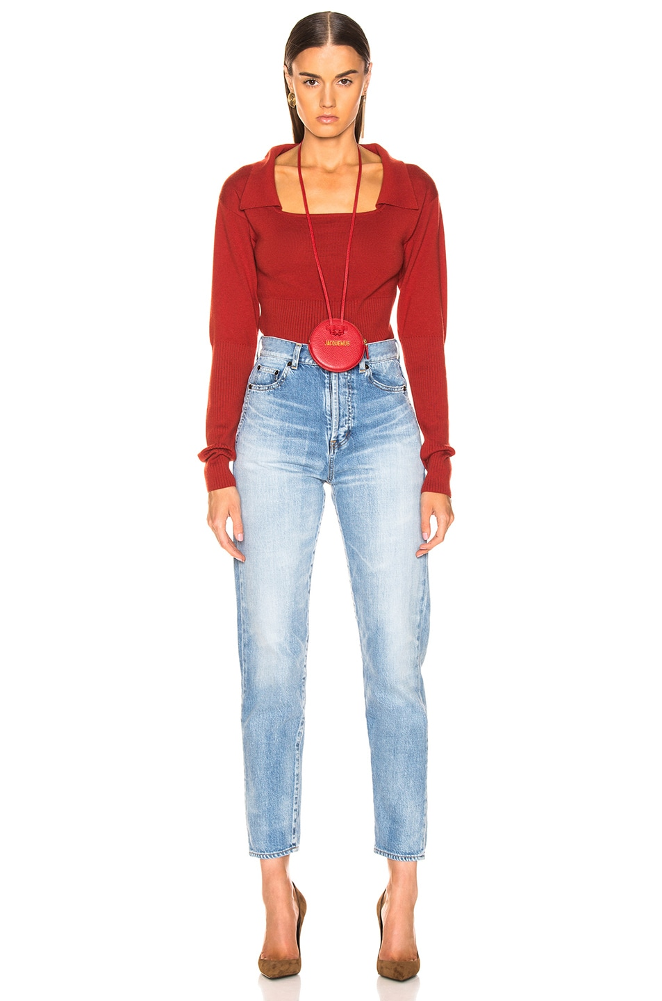 Image 4 of JACQUEMUS Praio Sweater in Red