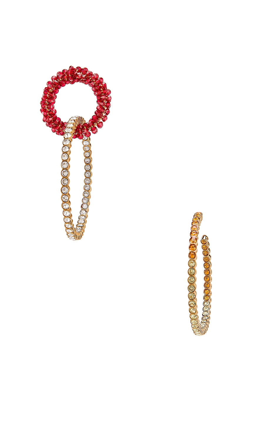 Image 1 of JACQUEMUS Conca Earrings in Red