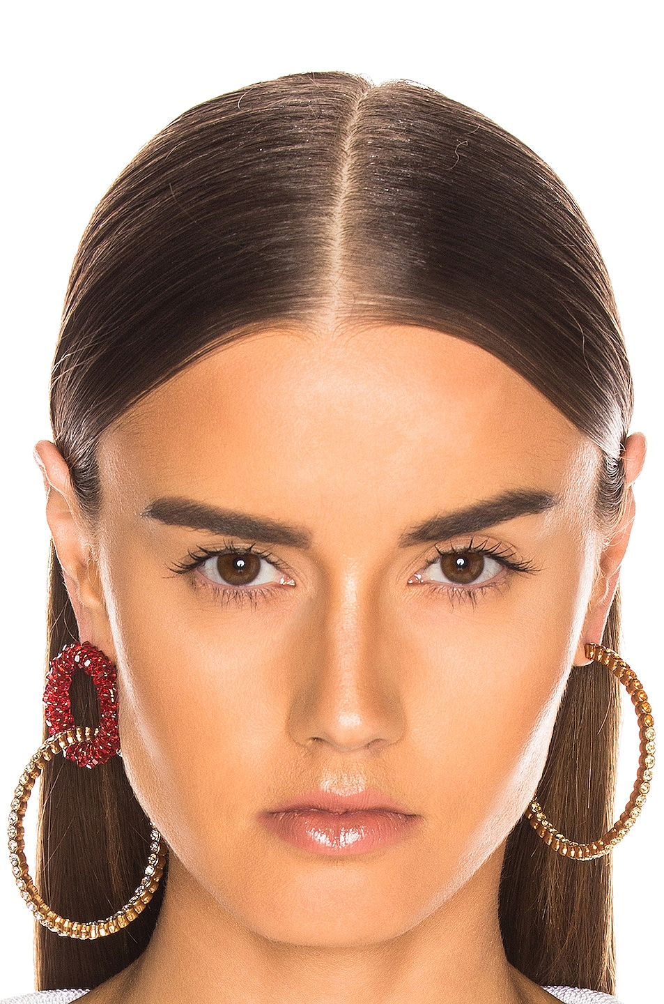Image 2 of JACQUEMUS Conca Earrings in Red