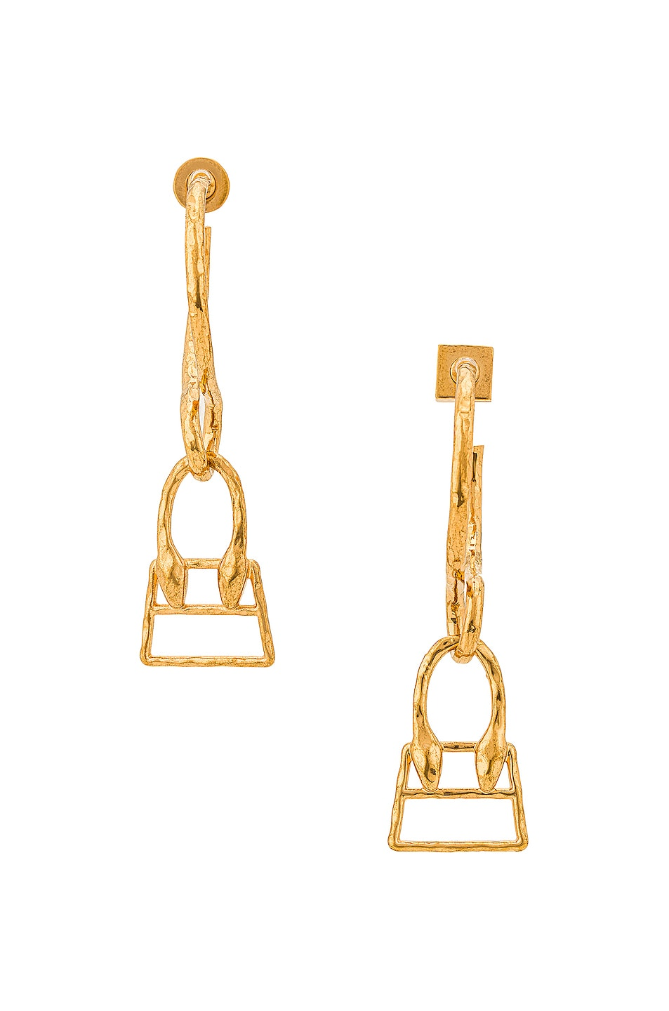 Image 1 of JACQUEMUS Les Creoles Chiquita Earrings in Gold