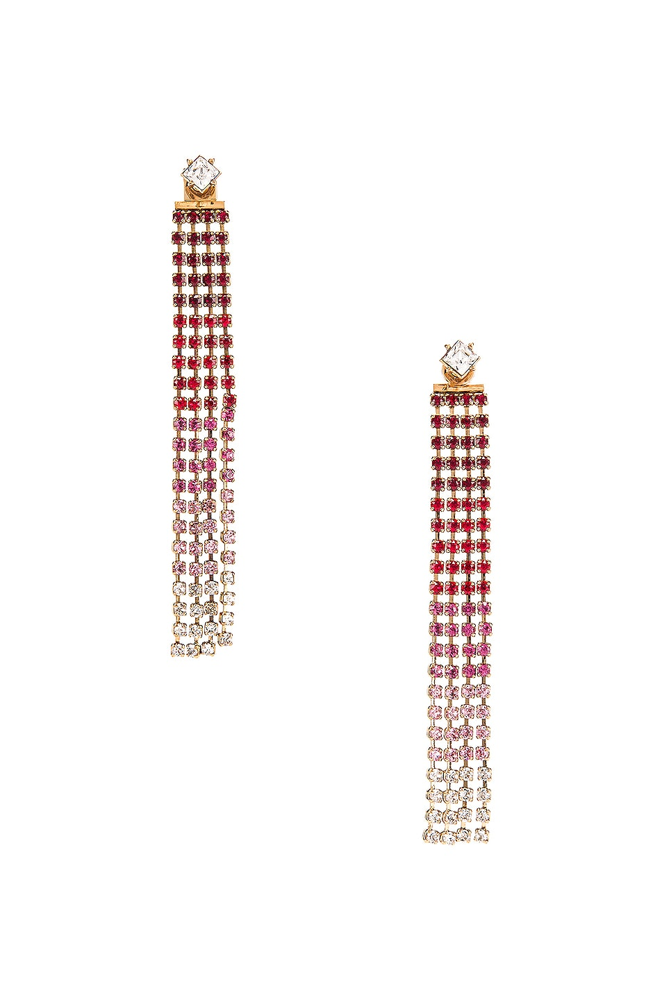 Image 1 of JACQUEMUS Monaco Earrings in Red