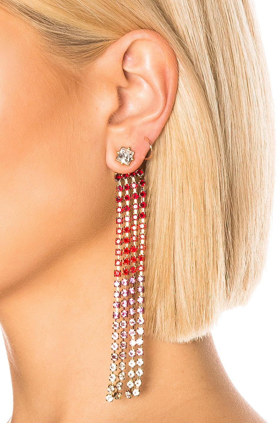 Image 2 of JACQUEMUS Monaco Earrings in Red