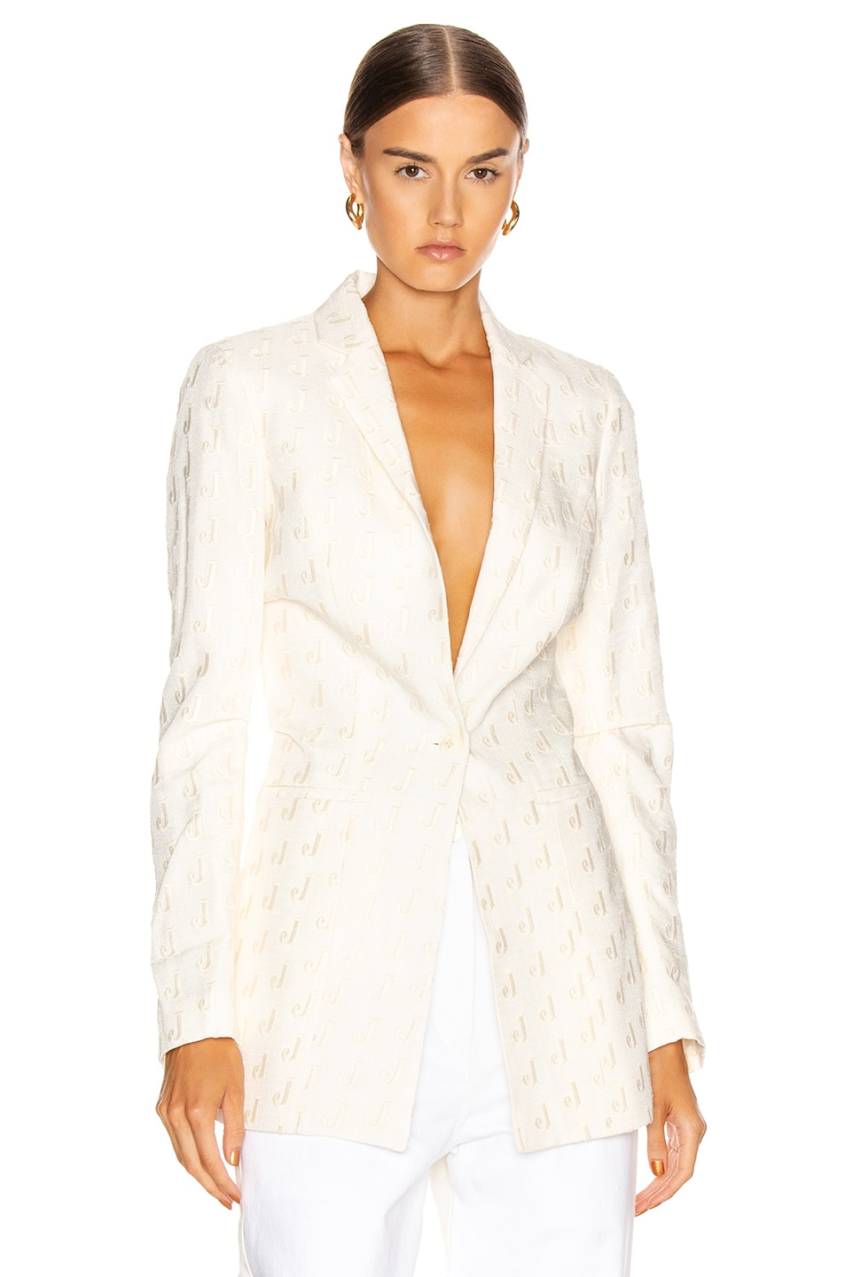 Image 1 of JACQUEMUS Bergamo Jacket in Off White