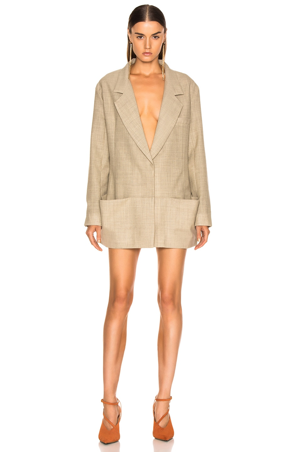 Image 2 of JACQUEMUS Saafi Jacket in Beige