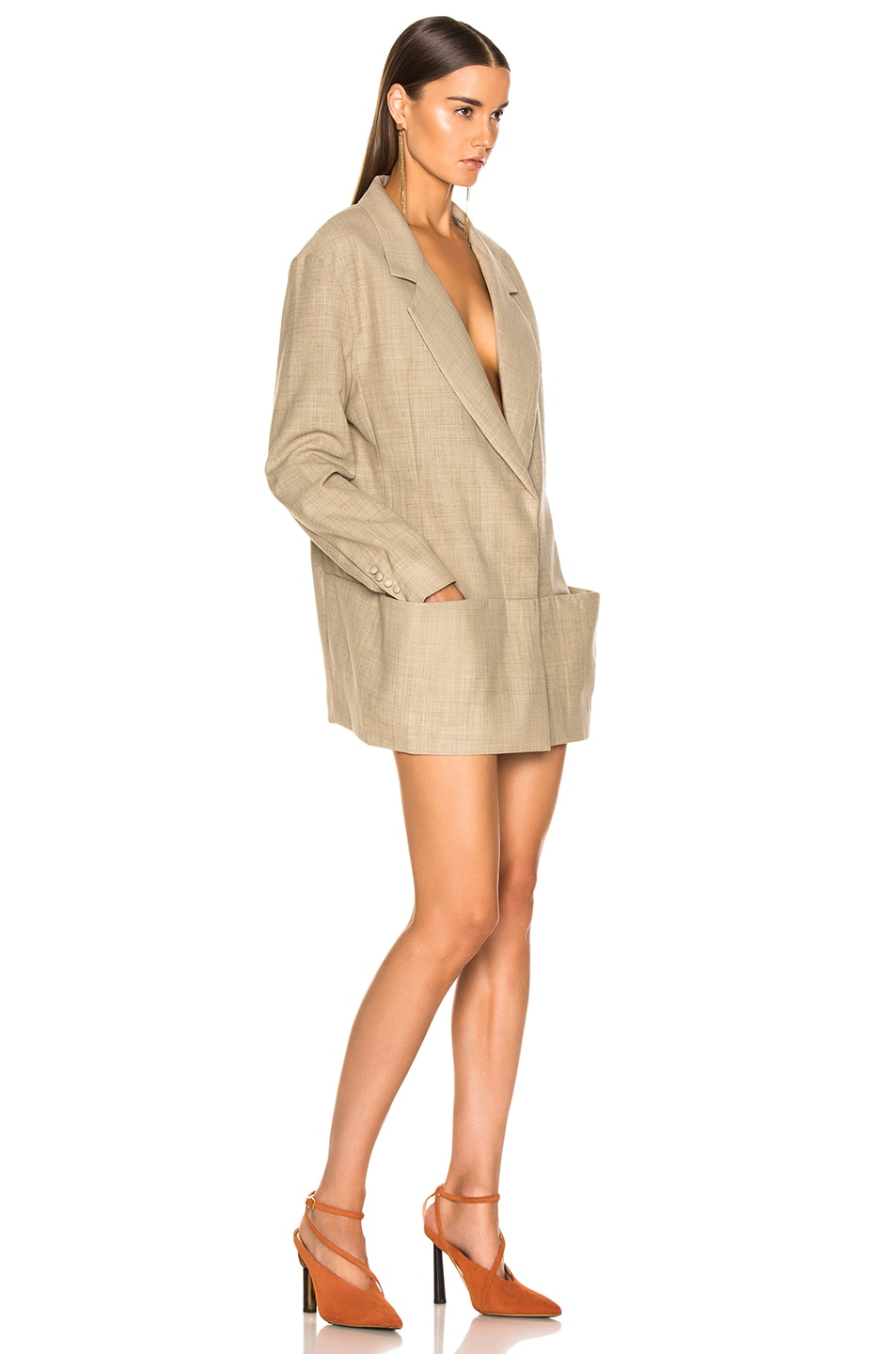 Image 3 of JACQUEMUS Saafi Jacket in Beige