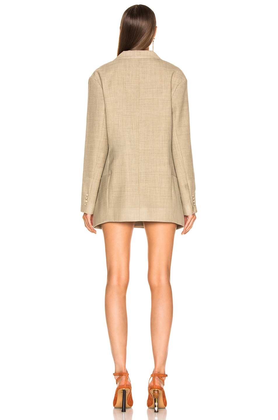 Image 4 of JACQUEMUS Saafi Jacket in Beige