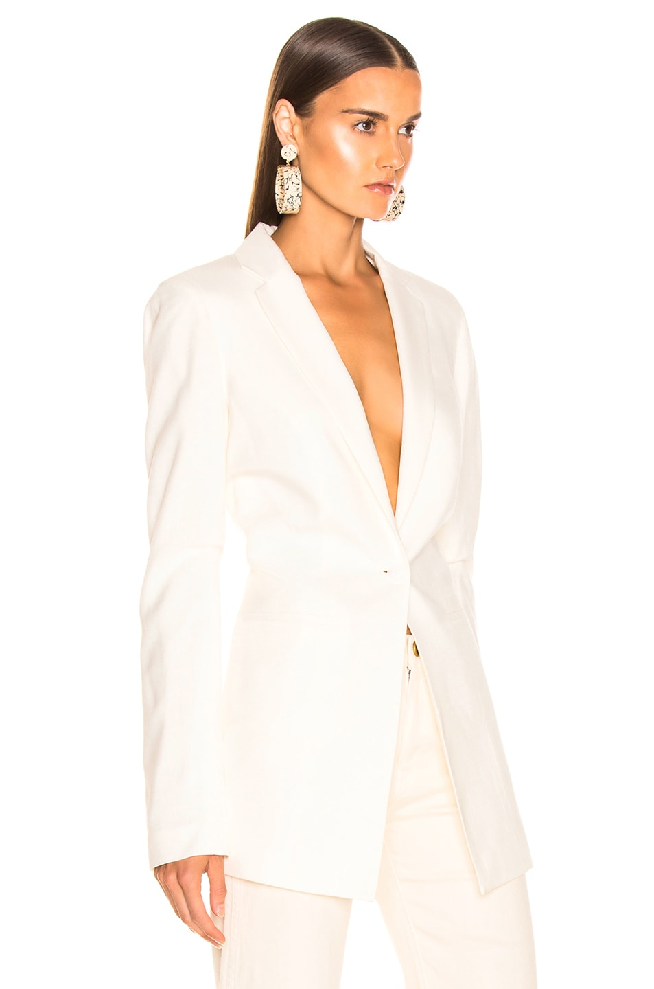 Image 2 of JACQUEMUS Bergamo Jacket in Off White
