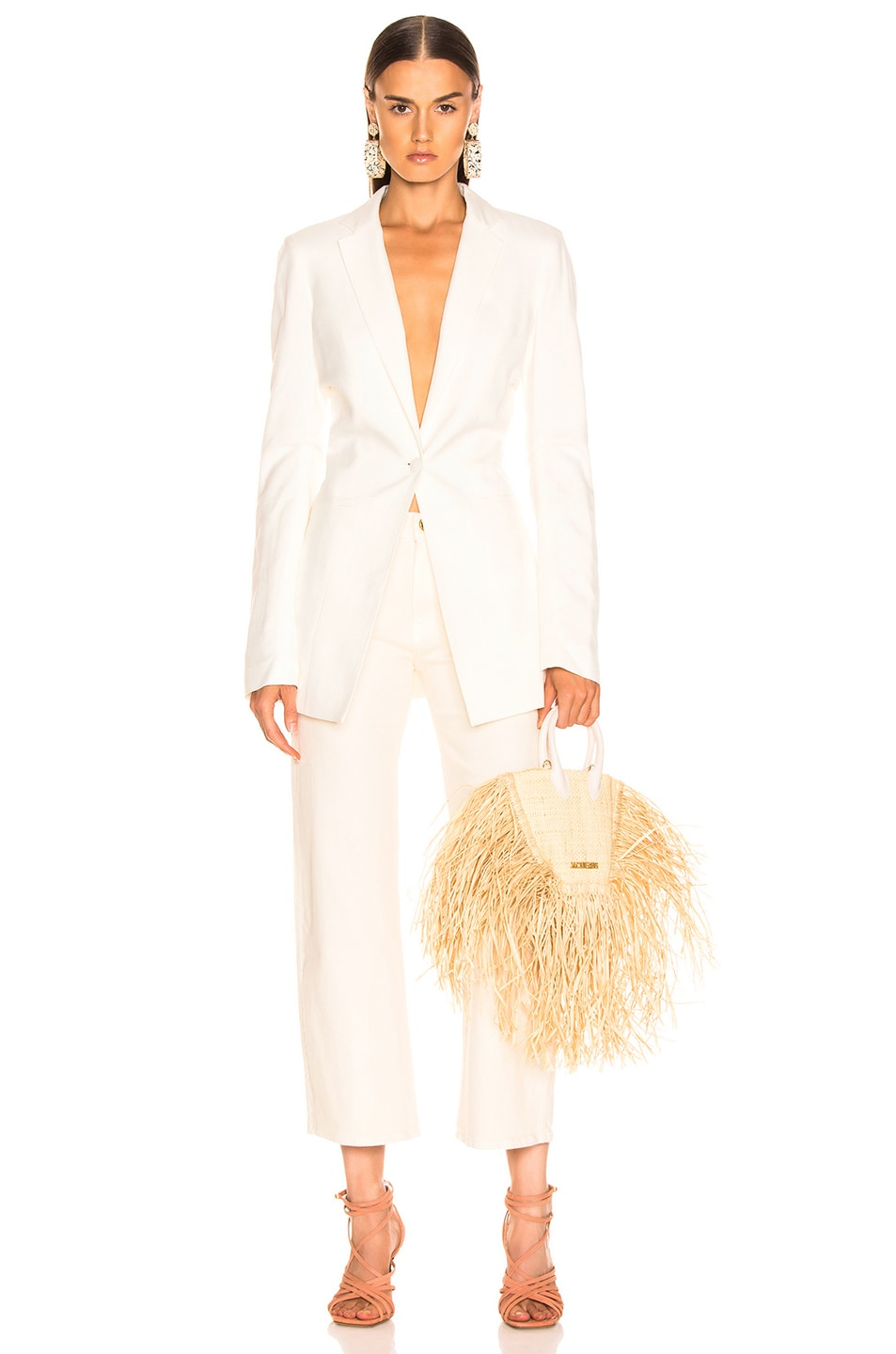 Image 4 of JACQUEMUS Bergamo Jacket in Off White