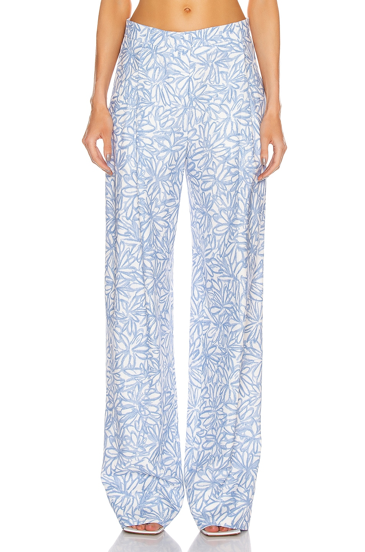 Image 1 of JACQUEMUS Le Pantalon Loya in Print Blue Flowers