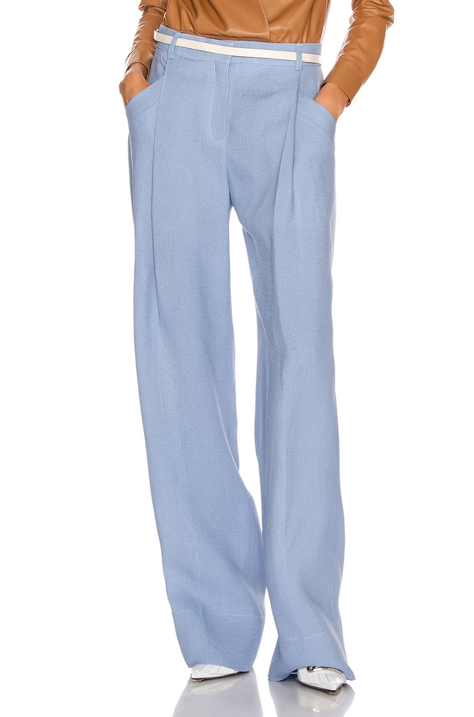 Image 1 of JACQUEMUS Loya Pant in Light Blue