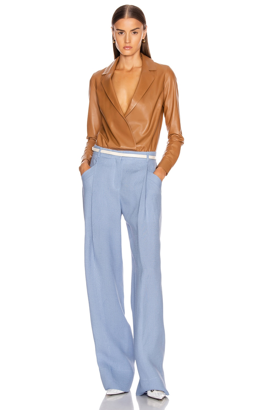 Image 4 of JACQUEMUS Loya Pant in Light Blue