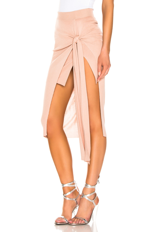 Image 3 of JACQUEMUS Lodosa Skirt in Dark Nude