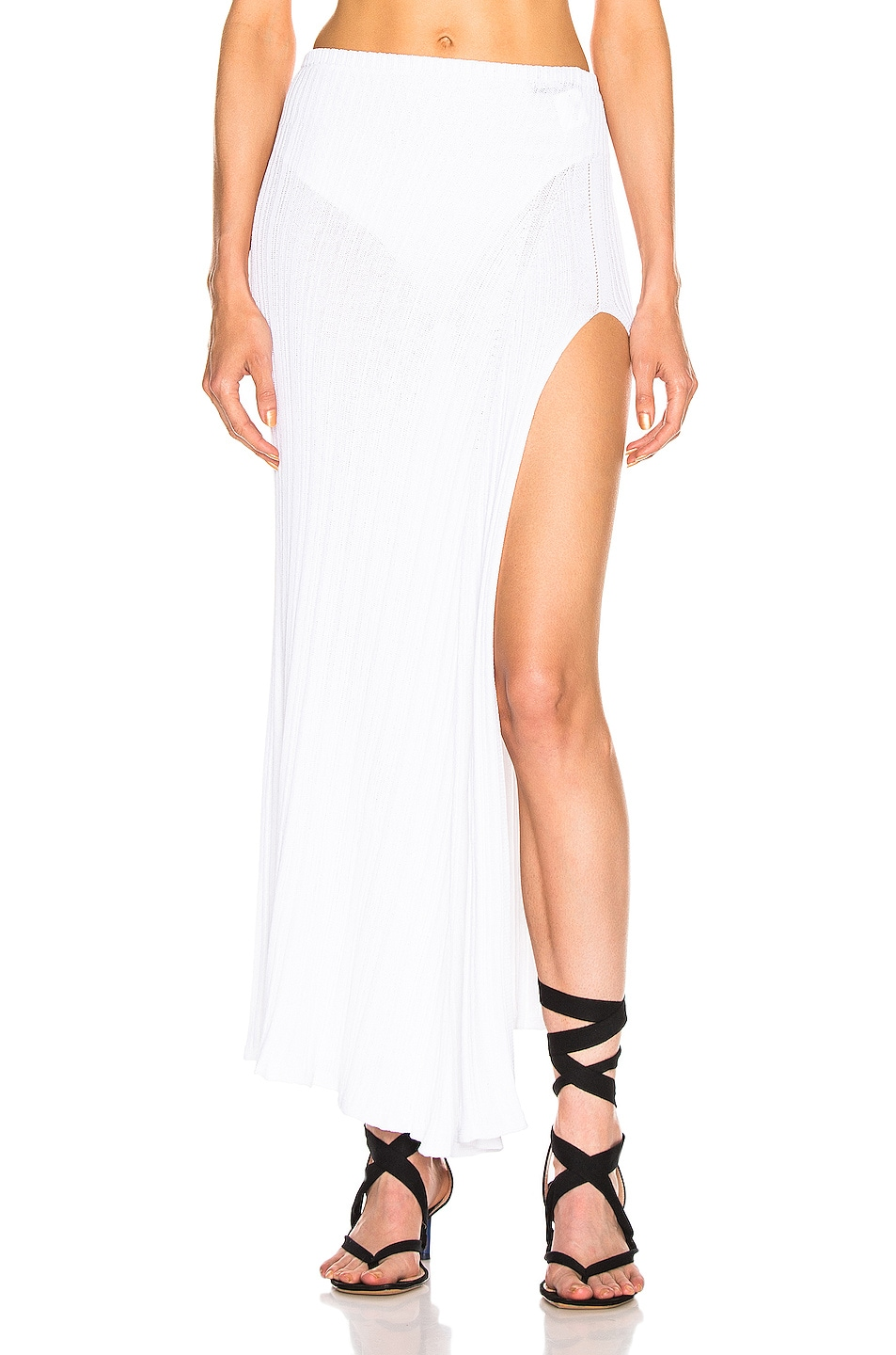 Image 1 of JACQUEMUS Long Sanremo Skirt in Off White