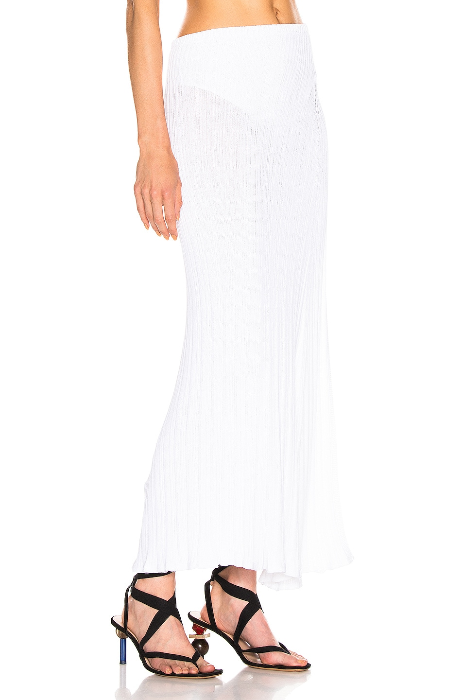 Image 2 of JACQUEMUS Long Sanremo Skirt in Off White