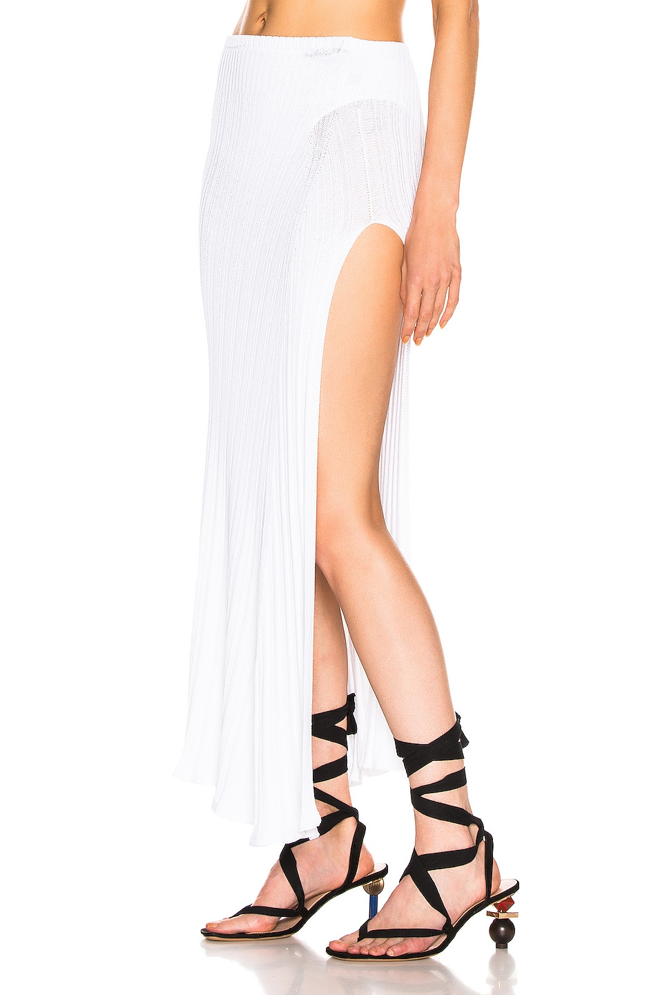 Image 3 of JACQUEMUS Long Sanremo Skirt in Off White