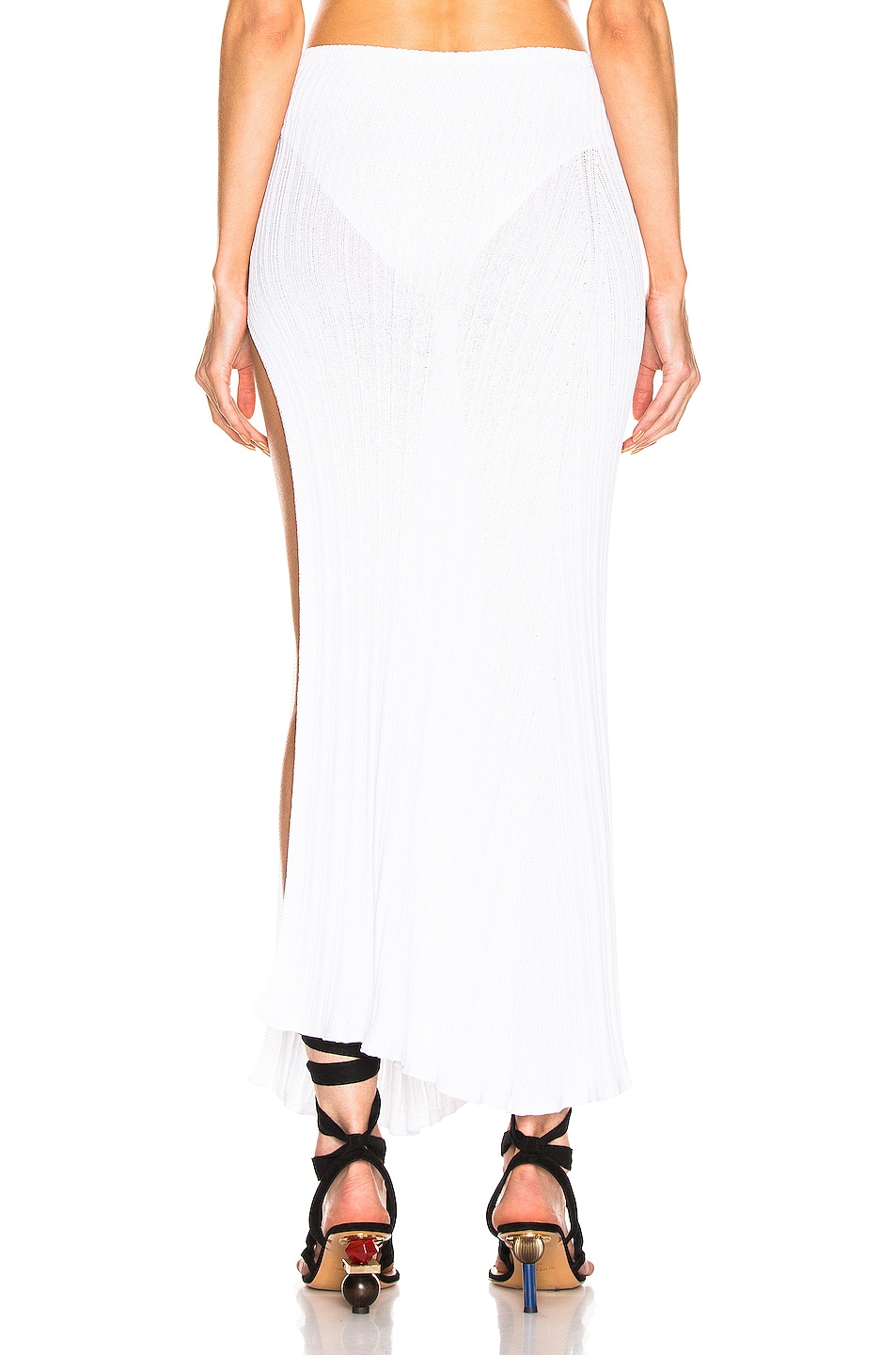 Image 4 of JACQUEMUS Long Sanremo Skirt in Off White