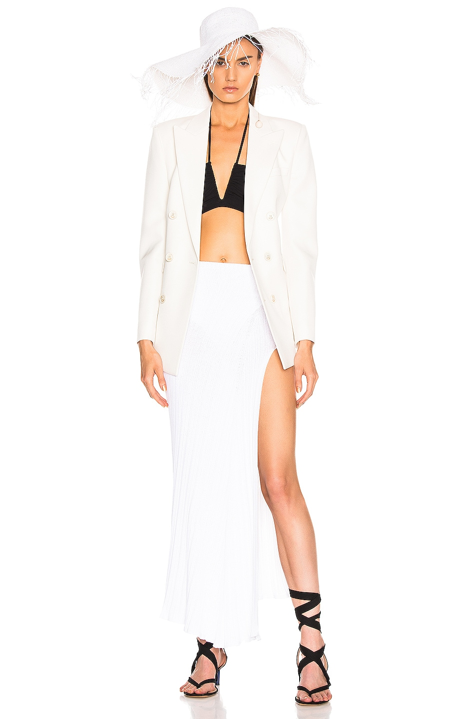 Image 5 of JACQUEMUS Long Sanremo Skirt in Off White