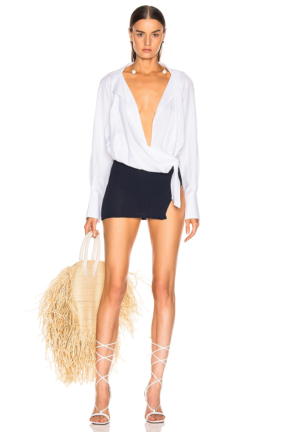 Image 5 of JACQUEMUS Sanremo Skirt in Navy