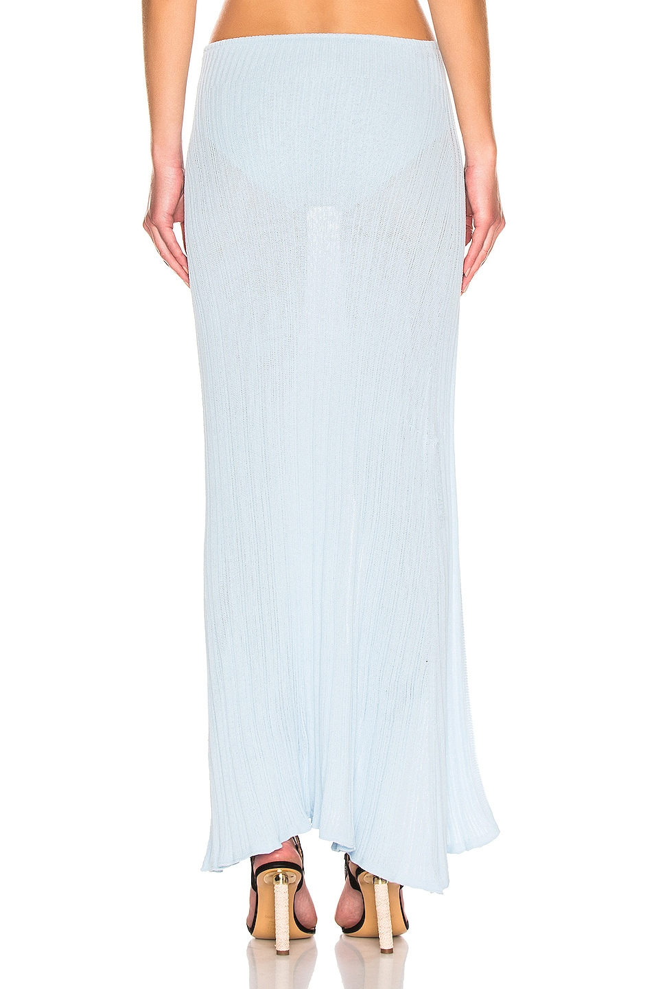 Image 3 of JACQUEMUS Long Sanremo Skirt in Baby Blue