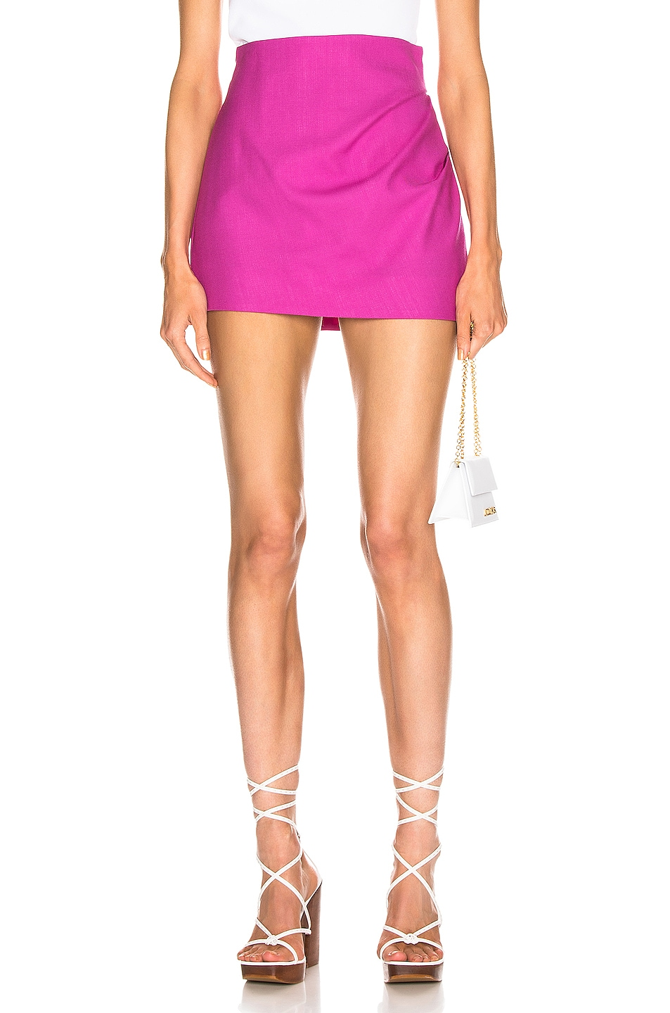 Image 1 of JACQUEMUS Bambola Skirt in Pink