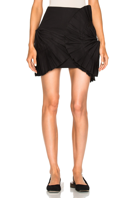 Image 1 of JACQUEMUS Ruffle Detail Skirt in Black