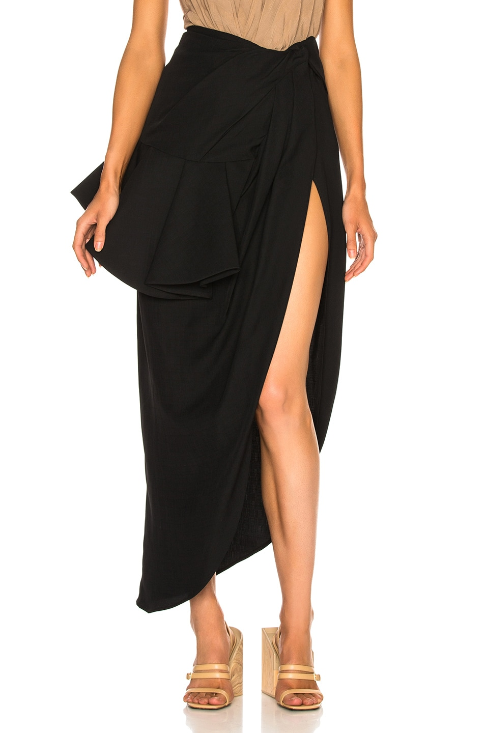 Image 1 of JACQUEMUS Sol Skirt in Black