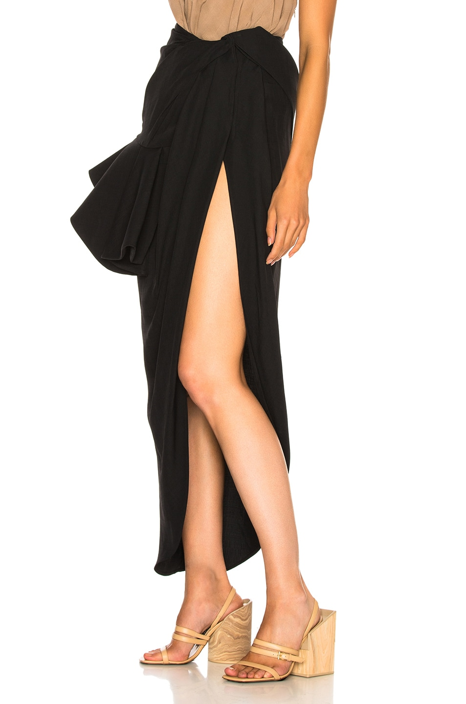 Image 3 of JACQUEMUS Sol Skirt in Black