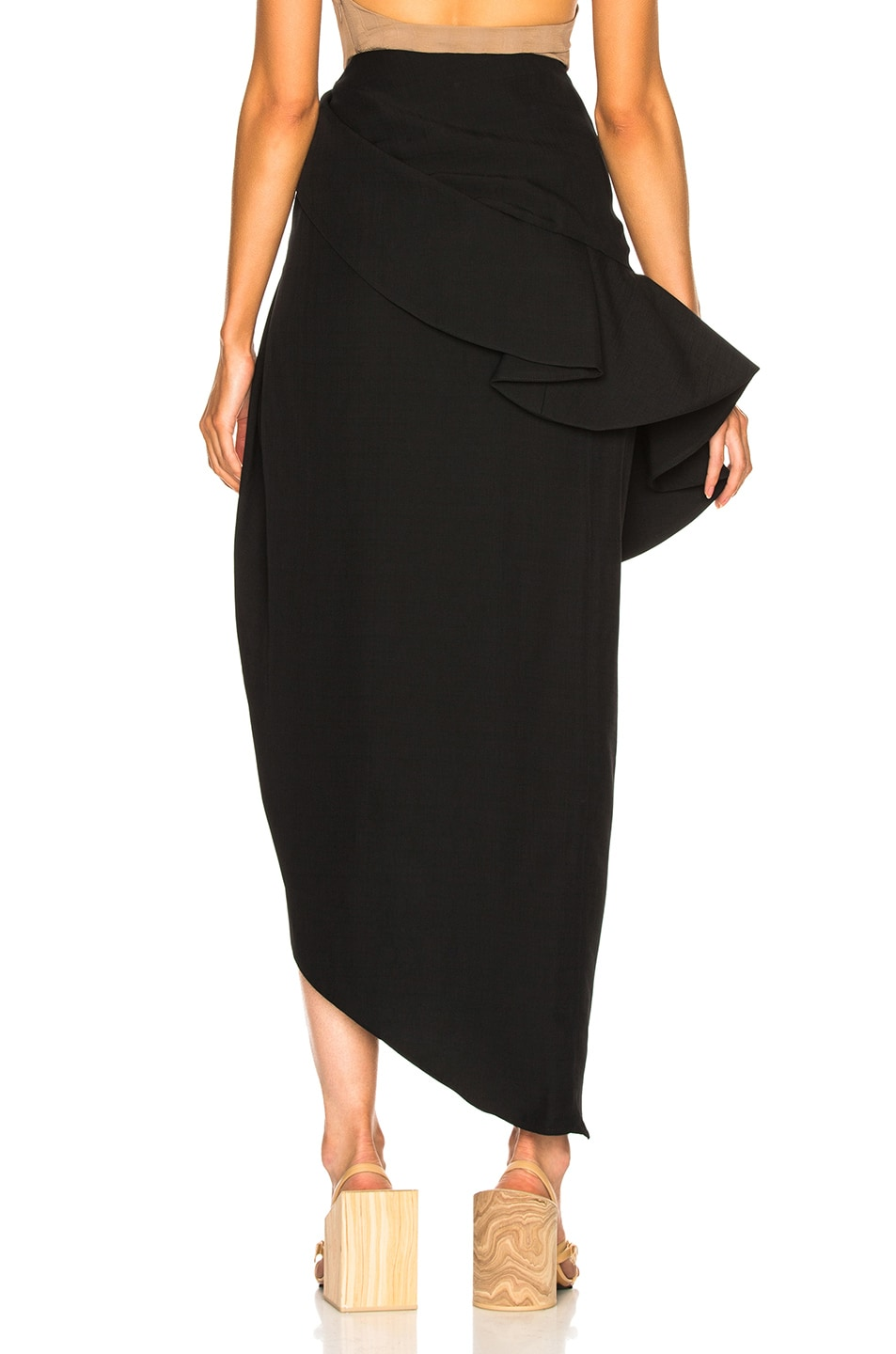 Image 4 of JACQUEMUS Sol Skirt in Black