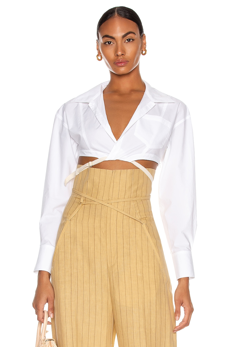 Image 1 of JACQUEMUS La Chemise Laurier in White