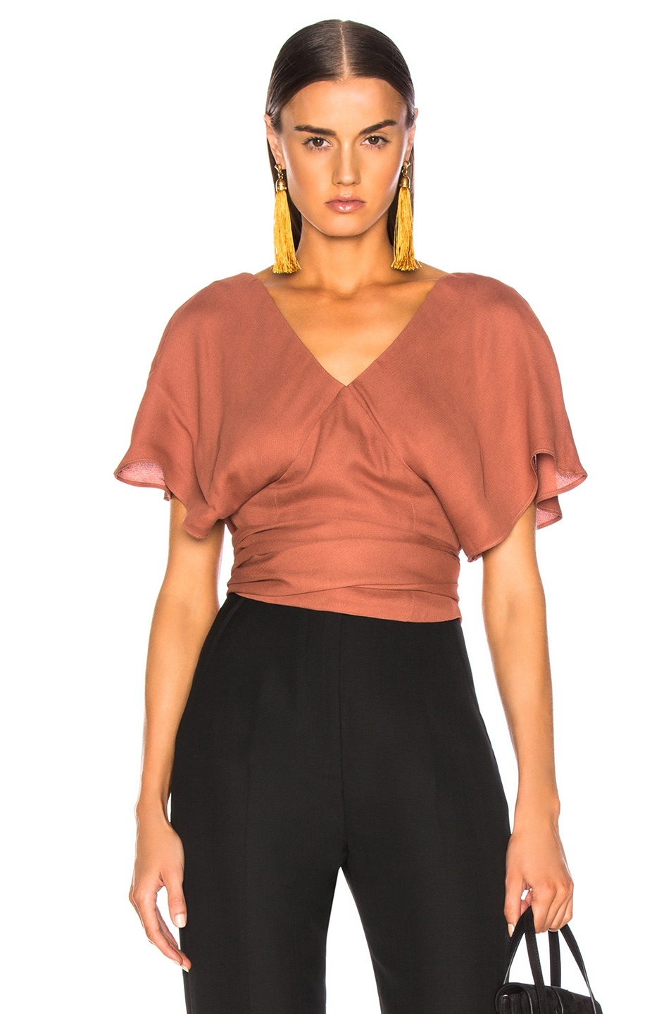 Image 1 of JACQUEMUS Dalil Top in Terracotta
