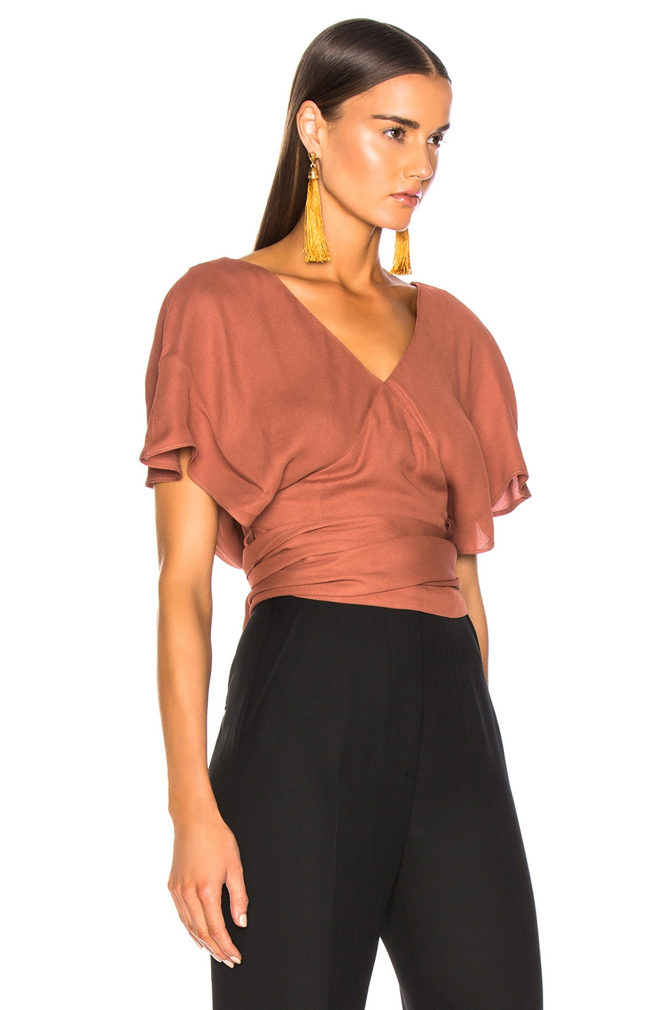 Image 2 of JACQUEMUS Dalil Top in Terracotta