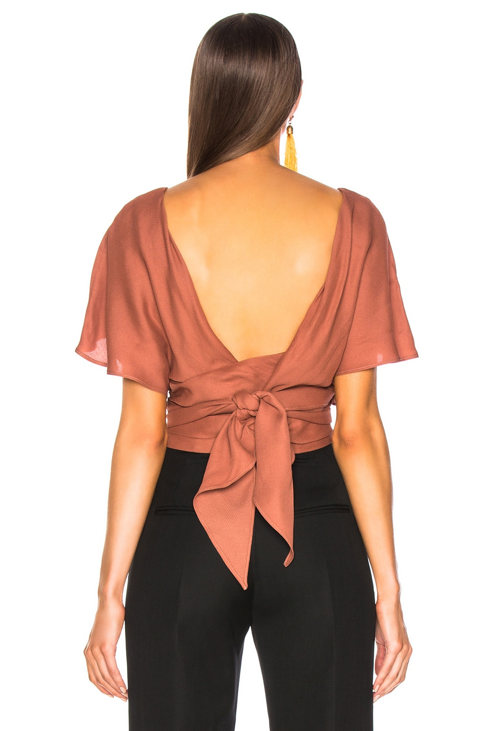 Image 3 of JACQUEMUS Dalil Top in Terracotta
