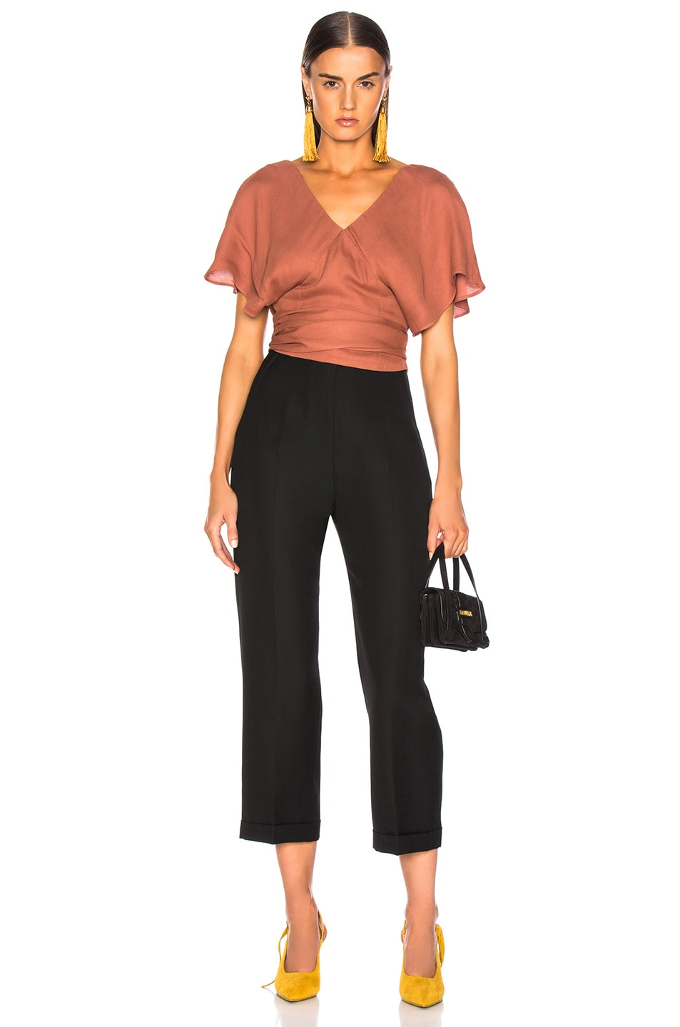 Image 4 of JACQUEMUS Dalil Top in Terracotta
