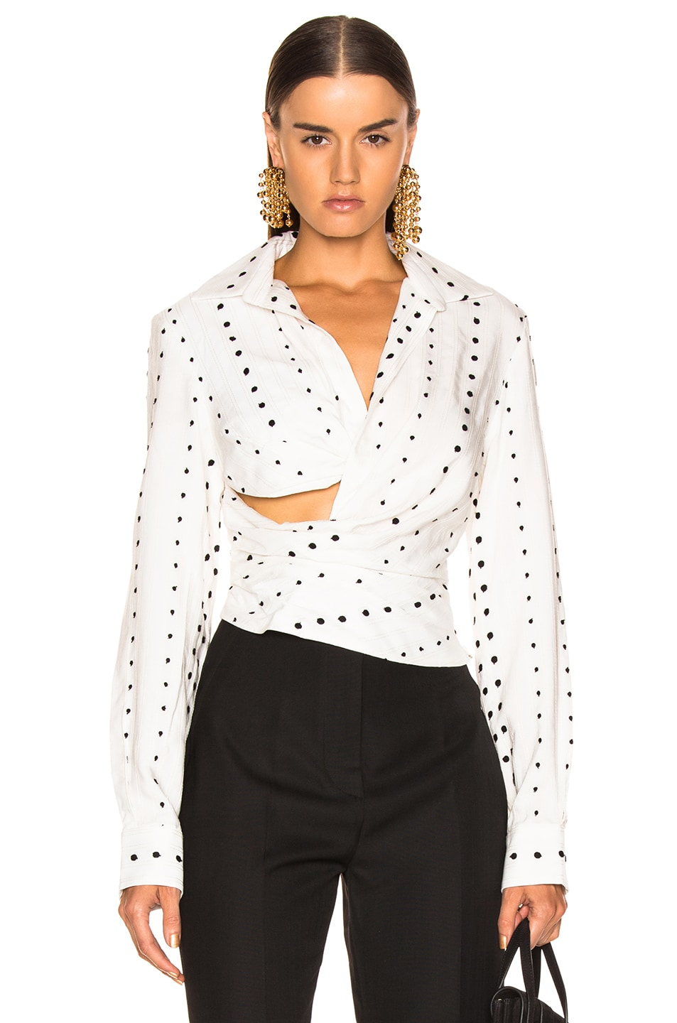 Image 1 of JACQUEMUS Nissa Top in Black Polka Dots