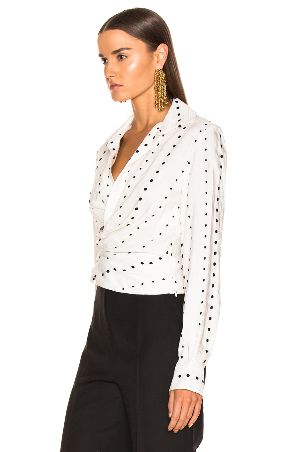 Image 3 of JACQUEMUS Nissa Top in Black Polka Dots
