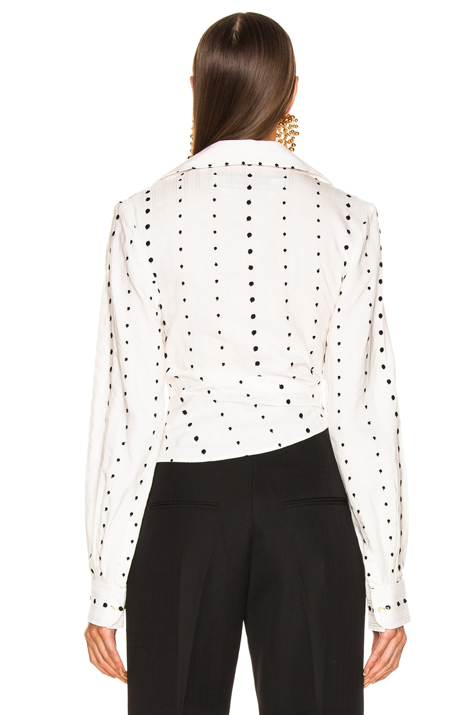 Image 4 of JACQUEMUS Nissa Top in Black Polka Dots