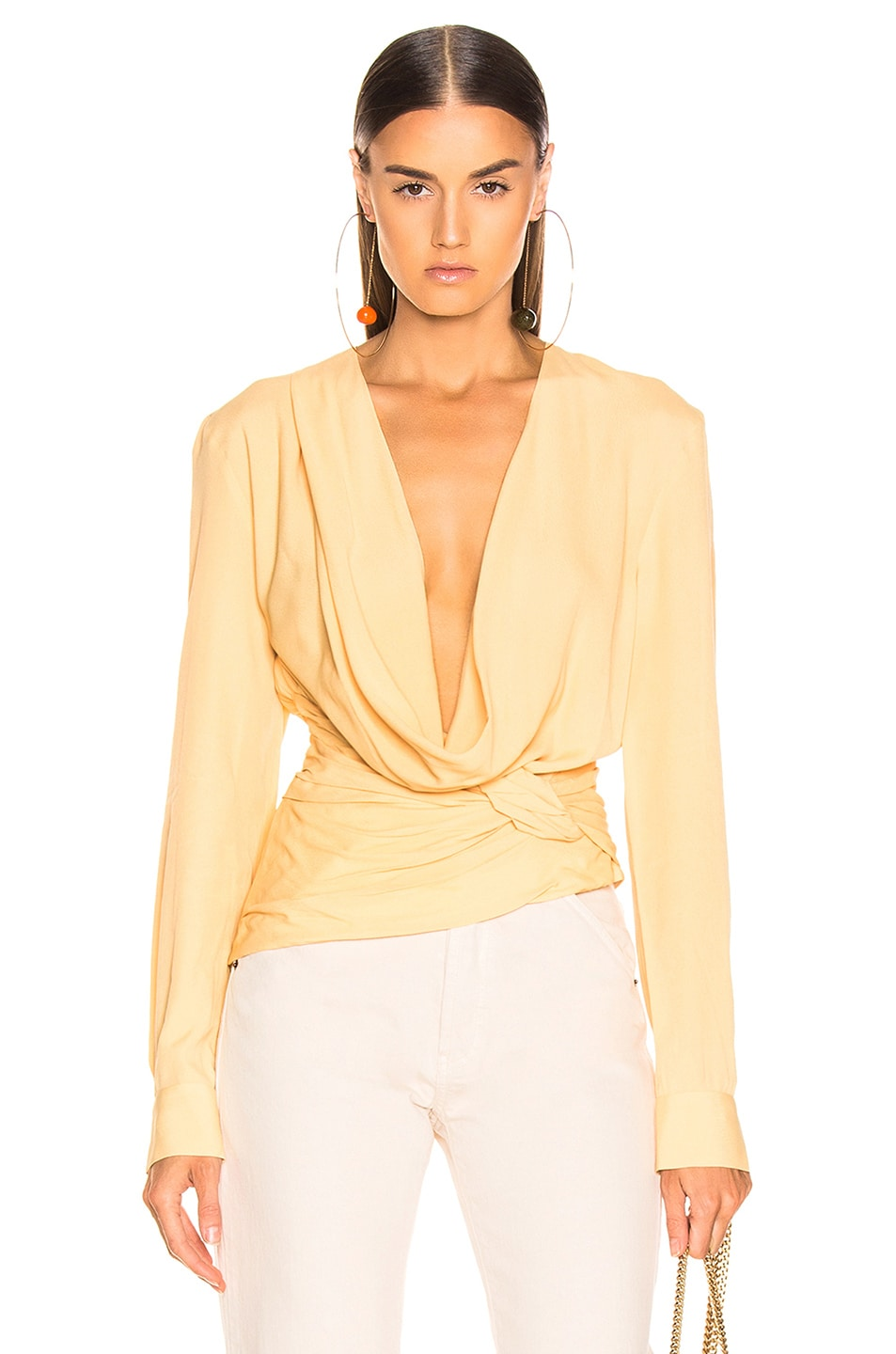 Image 1 of JACQUEMUS Anil Top in Pale Yellow
