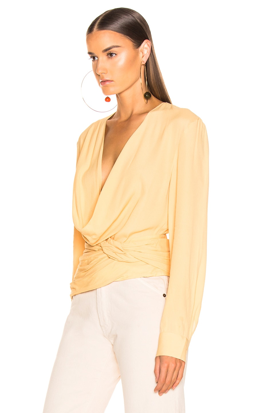 Image 3 of JACQUEMUS Anil Top in Pale Yellow