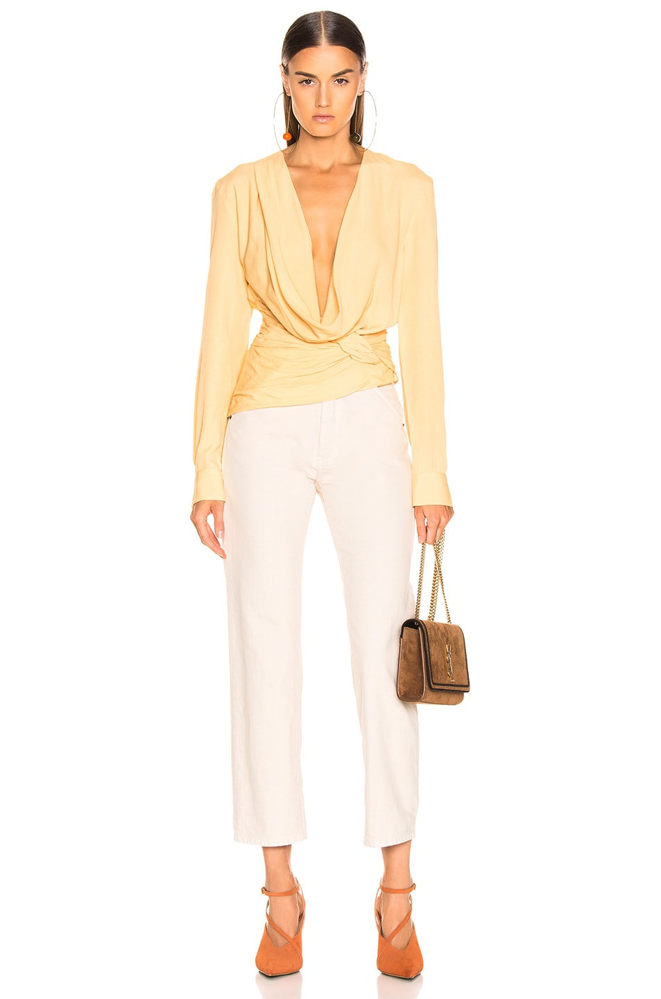 Image 5 of JACQUEMUS Anil Top in Pale Yellow