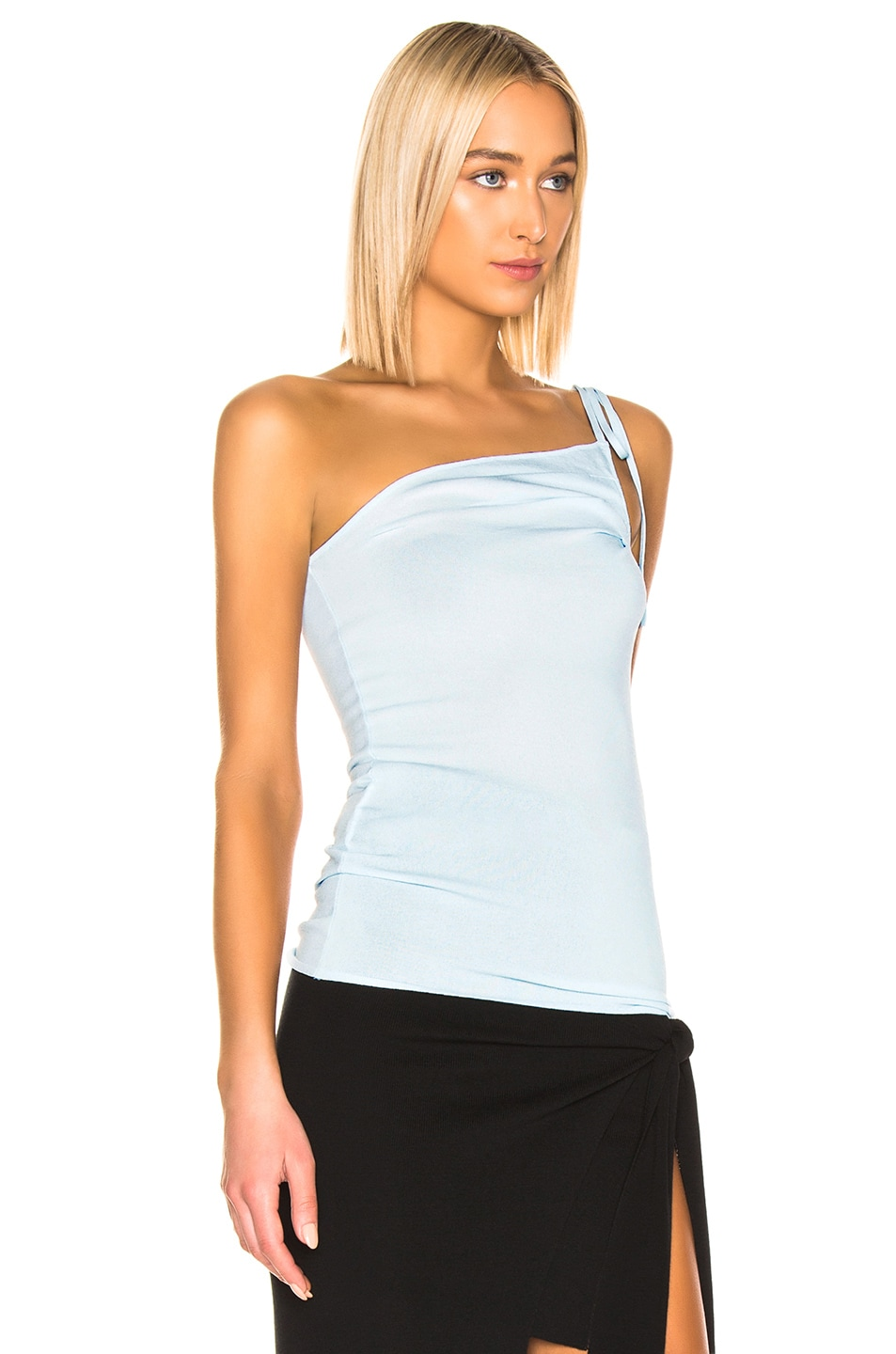 Image 2 of JACQUEMUS Asti Top in Baby Blue