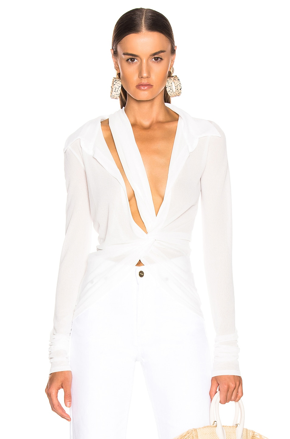 Image 1 of JACQUEMUS Bellagio Shirt in White