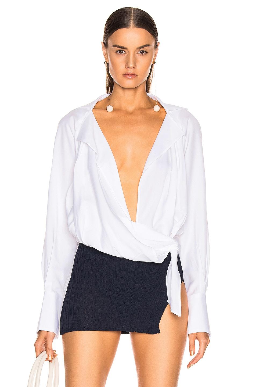 Image 1 of JACQUEMUS Figari Shirt in Optic White