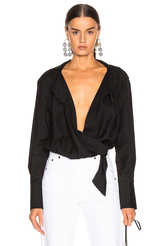 Image 1 of JACQUEMUS Figari Shirt in Black